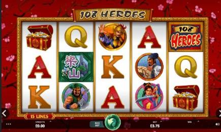 108 Heroes UK slot game