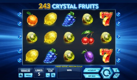 243 Crystal Fruits UK slot game