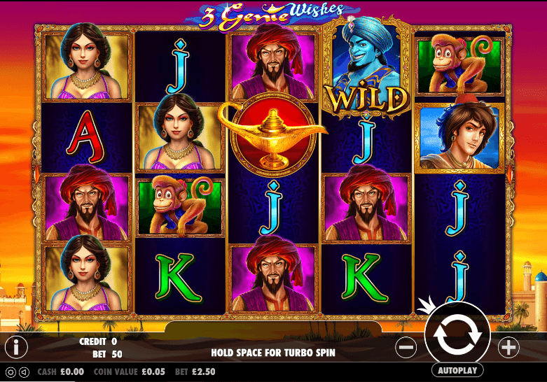 3 Genie Wishes UK slot game