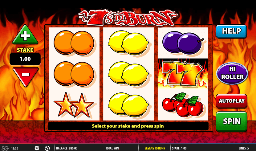 7s to Burn UK slot game