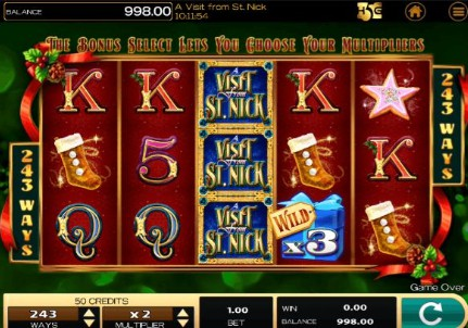 A Visit From St Nick UK slot game