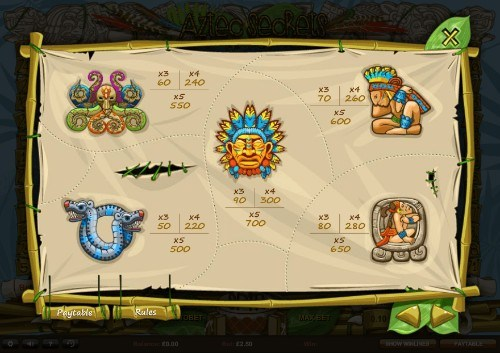 Aztec Secrets UK slot game