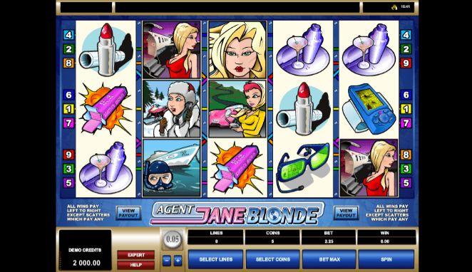 Agent Jane Blonde UK slot game