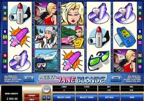 Agent Jane Blonde UK Slots