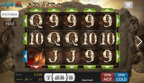 Age of Spartans Spin16 UK slot game