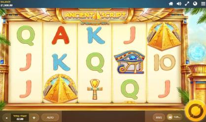 Ancient Script UK slot game