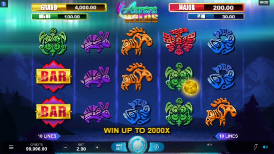 Aurora Wilds UK slot game