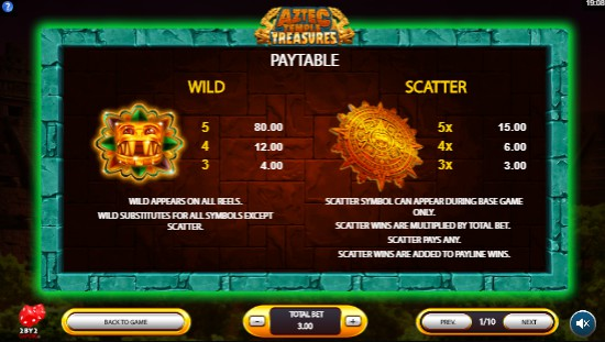 Aztec Temple Treasures UK slot game