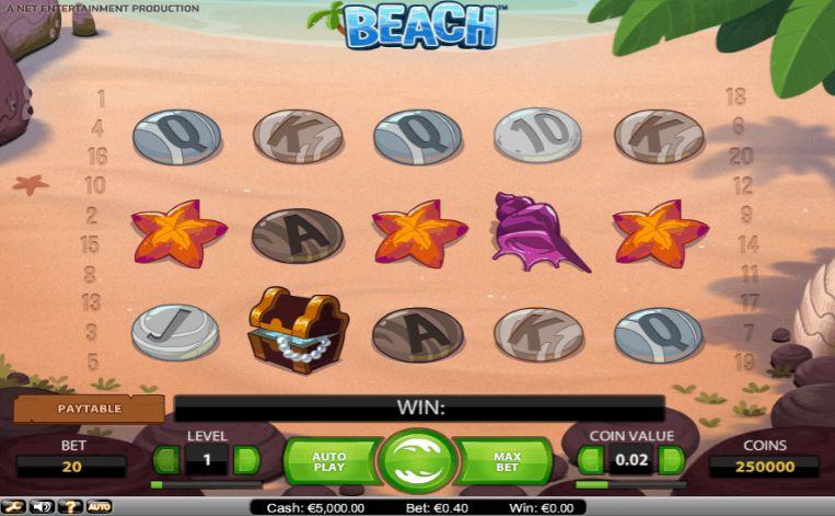 Beach UK slot game