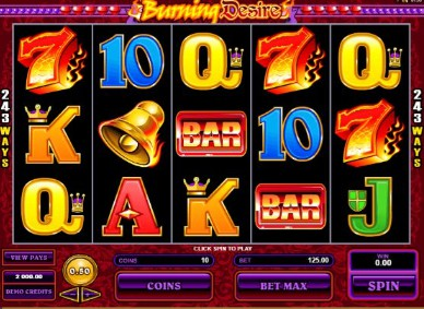 Burning Desire UK slot game