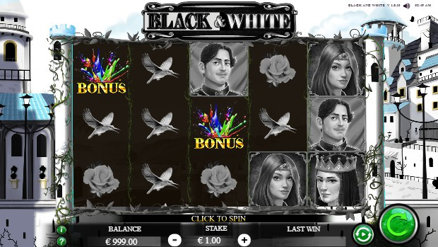 Black and White UK slot game