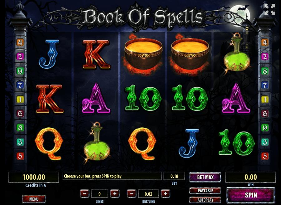 Book of Spells UK slot game