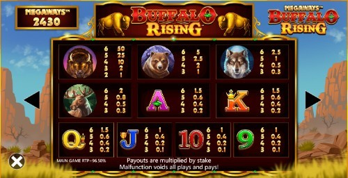 Buffalo Rising Megaways UK slot game