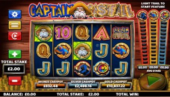 Captain Cashfall UK slot game