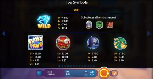 Claws Vs Paws UK slot game