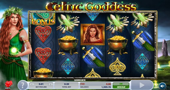 Celtic Goddess UK slot game
