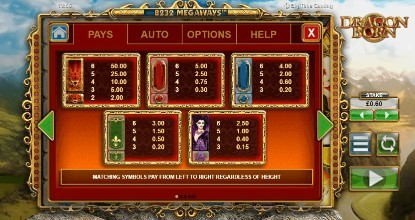 Dragon Born UK slot game