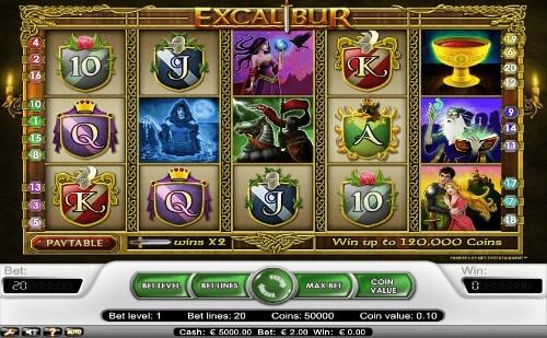 Excalibur UK slot game
