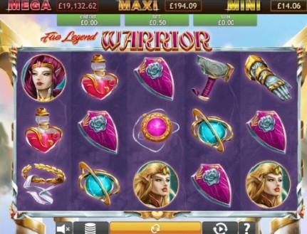 Fae Legend Warrior Jackpot UK slot game