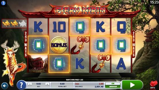 Fiery Kirin UK slot game