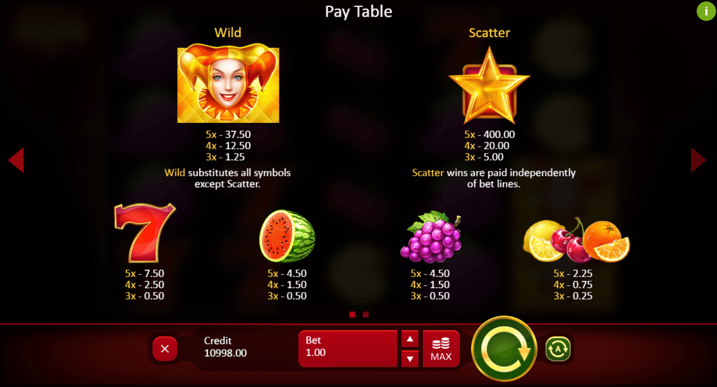 Fruits and Jokers: 40 Lines UK slot game