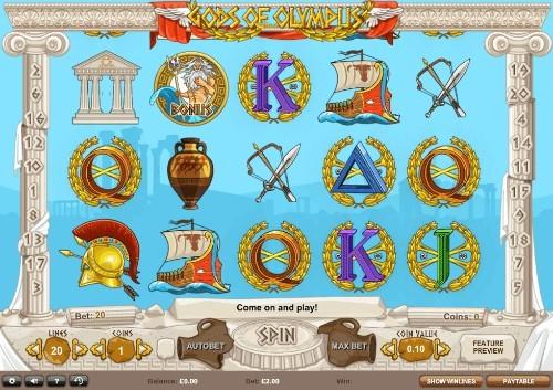 Gods Of Olympus UK slot game