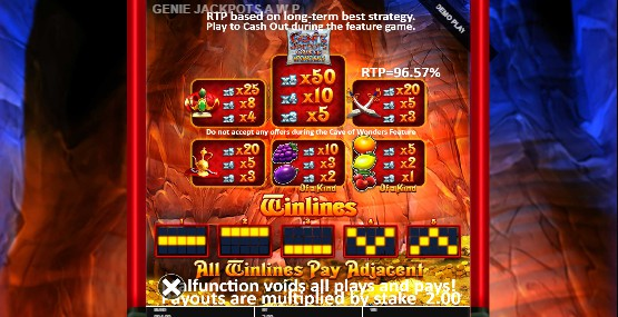Genie Jackpots Cave of Wonders UK slot game