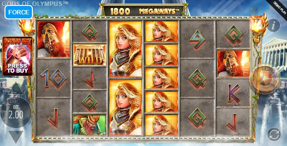 Gods Of Olympus Megaways UK slot game