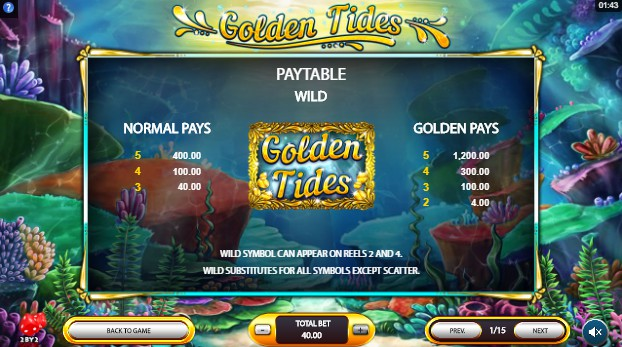 Golden Tides UK slot game