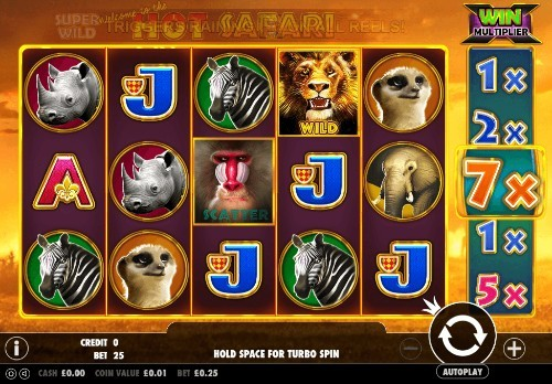 Hot Safari UK slot game