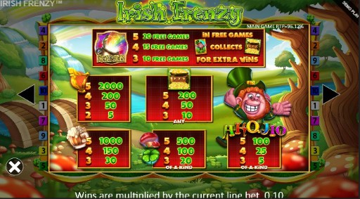 Irish Frenzy UK slot game