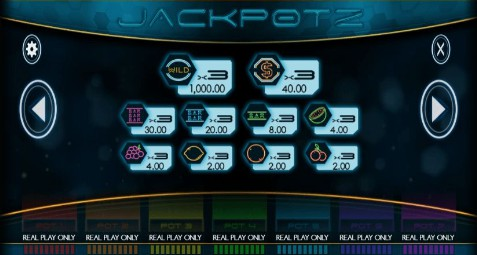 Jackpotz UK slot game