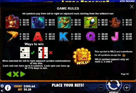 John Hunter and the Aztec Treasure UK slot game