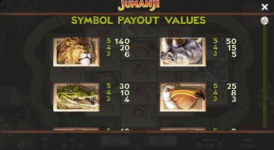 Jumanji UK slot game