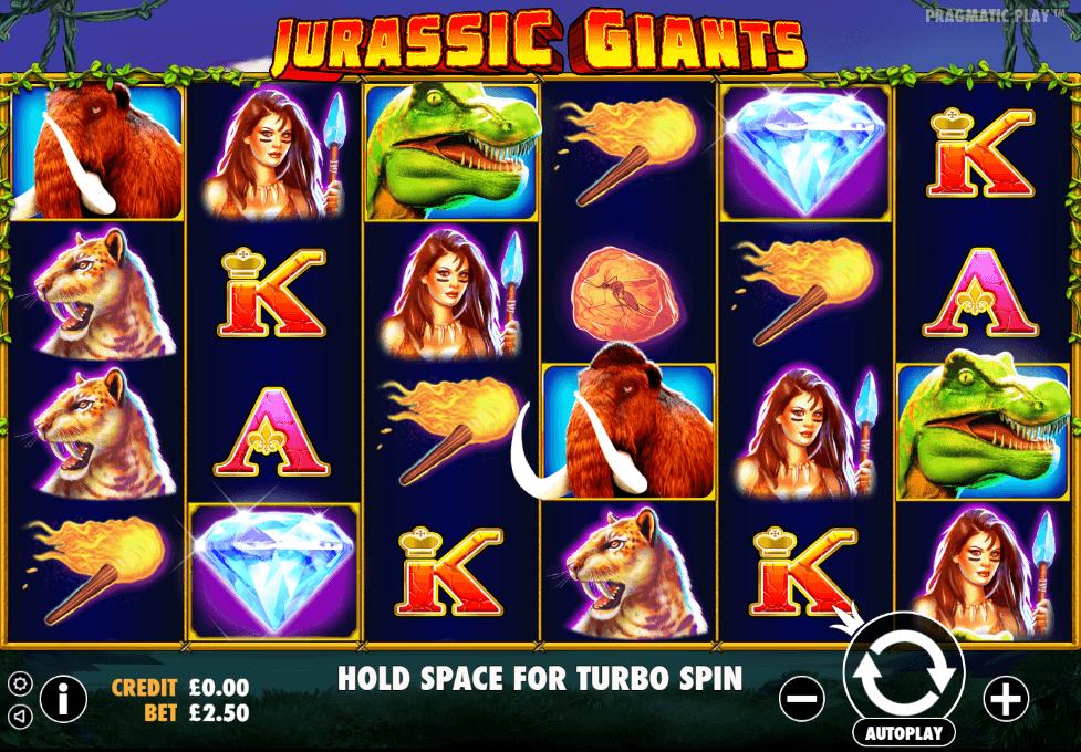 Jurassic Giants UK slot game