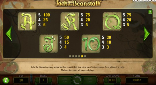 Jack and the Beanstalk UK slot game