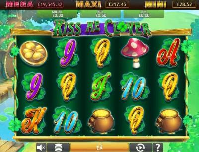 Kiss me Clover Jackpot UK slot game