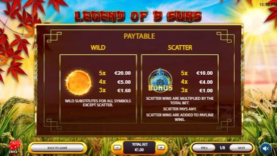 Legend of 9 Suns UK slot game