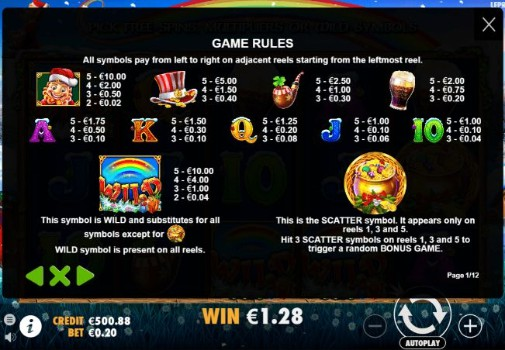 Leprechaun Carol UK slot game