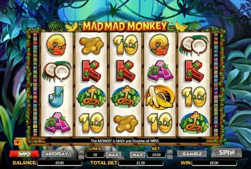 Mad Mad Monkey UK slot game