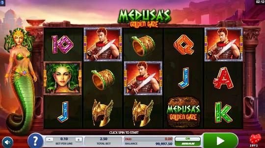 Medusa's Golden Gaze UK slot game