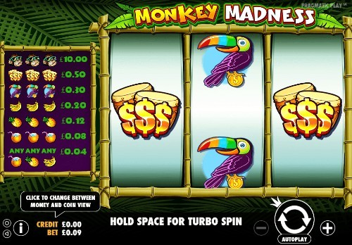 Monkey Madness UK slot game