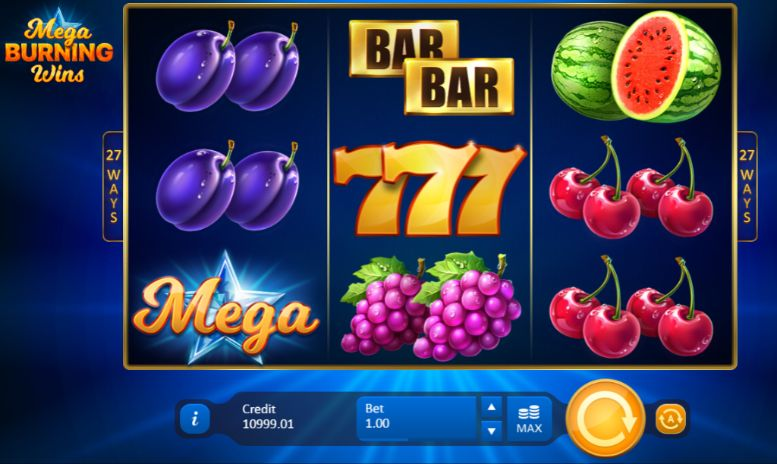 Mega Burning Wins UK slot game