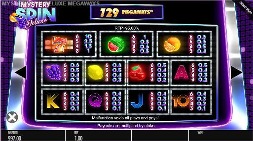 Mystery Spin Deluxe Megaways UK slot game