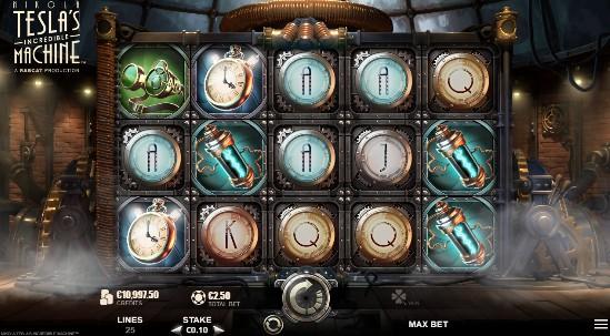 Nikola Tesla Incredible Machine UK slot game