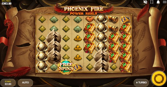 Phoenix Fire Power Reels UK slot game