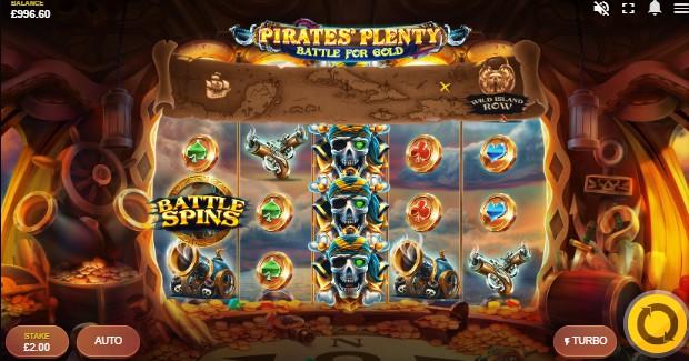 Pirates Plenty Battle for Gold UK slot game