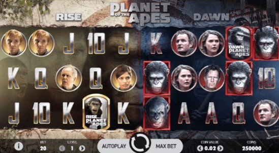 Planet of the Apes UK slot game