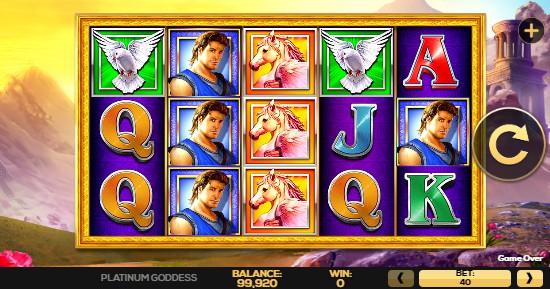 Platinum Goddess UK slot game