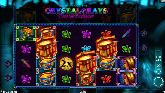 Queen of the Crystal Rays UK slot game